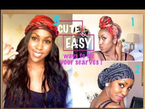 3 EASY & CUTE Ways to Wear your Turban/Headwrap | Tutorial