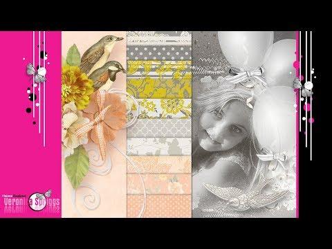 Digital Scrap Kits For Sale - Digital Scrapbook Paper - Just Suppose by Veronica Spriggs