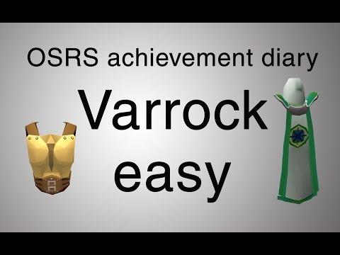 [OSRS] Varrock easy diary guide