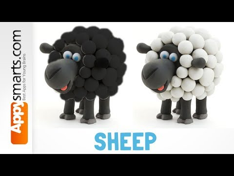 Baa Baa Clay Sheep - DIY how to make video for kids (another Hey Clay app demo)