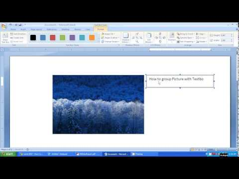 Microsoft word 2007 tutorial - How to group picture and text box