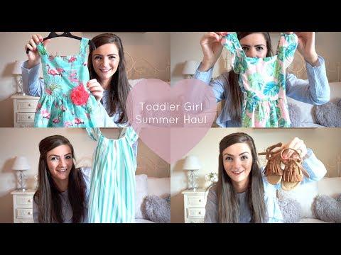HUGE TODDLER BABY GIRL SUMMER CLOTHING HAUL | ZARA PRIMARK SAINSBURYS RIVER ISLAND ETC