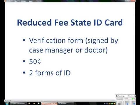 Reduced Fee State ID Card