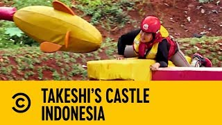 London Hughes Roots For Beach Bum Brenda   Takeshi's Castle Indonesia