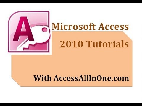 29/50 - Select Queries (Returning Null Values) - Microsoft Access 2010 Tutorial