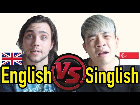 The difference between English VS Singlish