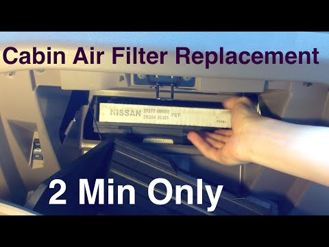 Cabin Air Filter Replacement - Nissan Altima - 2 Minutes only.