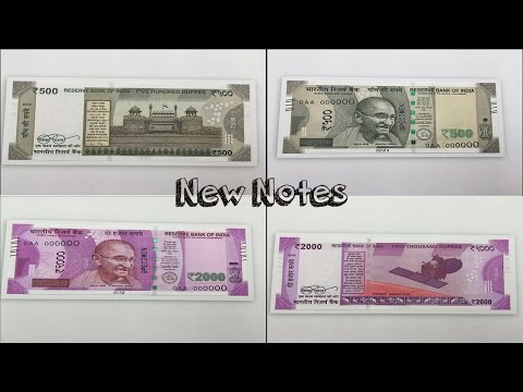 500 And 2000 Rupees New Notes