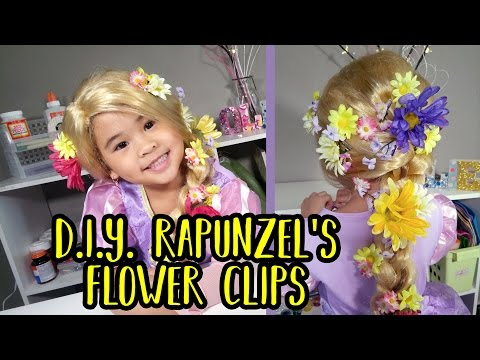 DIY Rapunzel's Flower Hair Clips | Easy Tangled Crafts | Disney Rapunzel's Hair Tutorial