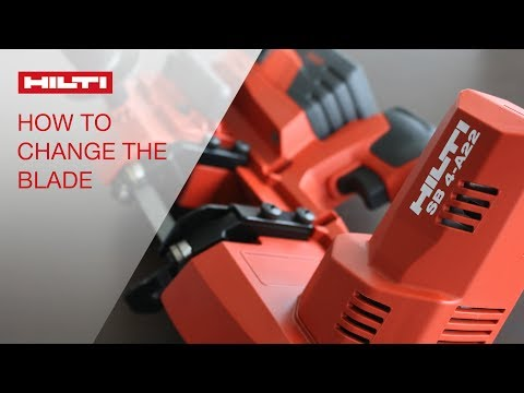 HOW TO change the blade on your Hilti Band Saw SB 4-A22