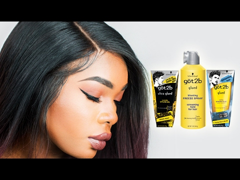 HOW TO USE GOT2B GLUED GEL FOR LACE FRONT WIGS | BeautyandMarie