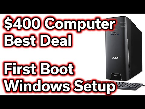 $400 Desktop Computer - First Boot & Windows Setup