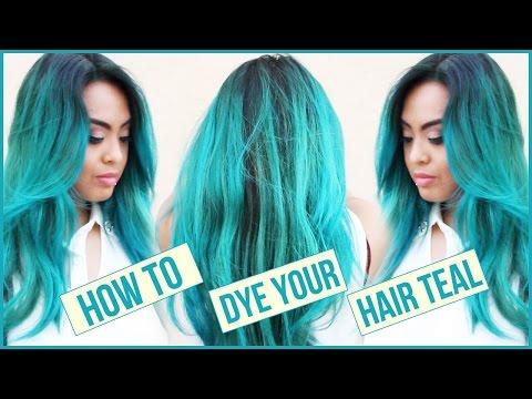 How I Dye My Hair Mermaid Teal || DIY || At Home Hair Dyeing Routine