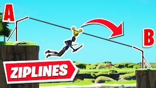 How to get WORKING Ziplines in Fortnite Creative!