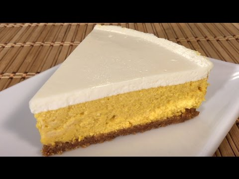 How To Make Pumpkin Cheesecake Japanese Food Recipes Asian Desserts Sour Cream Topping