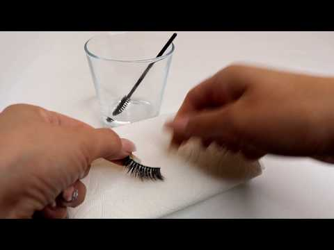 How to clean clear band Mink Lashes