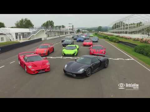 Romans International Super Car Race Day - Goodwood Motor Circuit - Aerial Film