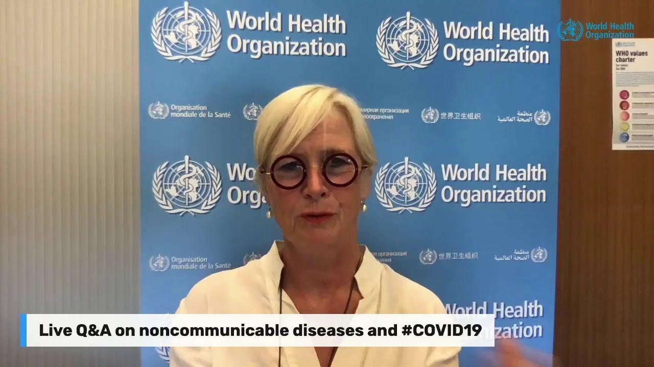 Live Q&A on noncommunicable diseases and #COVID19