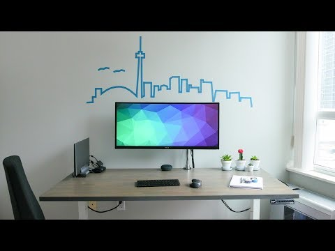 DIY Dream Desk Setup 2.0 - Minimal Ergonomic Clean