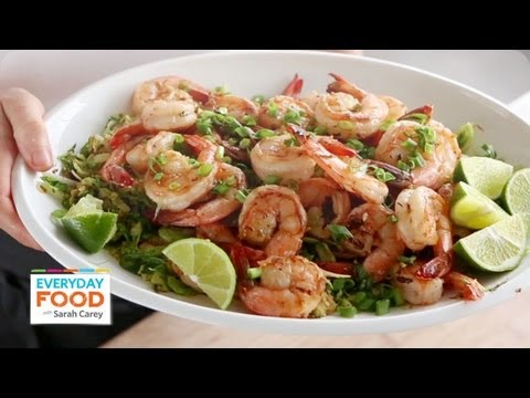 Spicy Shrimp and Brussels Sprout Stir-Fry | Everyday Food with Sarah Carey