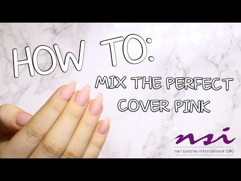 HOW TO/TUTORIAL/DIY - Mix the perfect cover pink - ACRYLIC