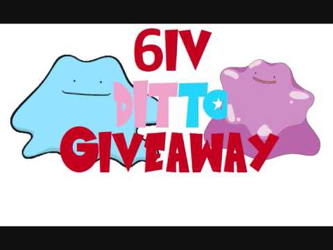 6IV Ditto (Shiny?!) Giveaway In Pokemon X & Y and ORAS!