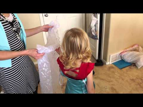 Disney's Frozen Dress DIY // Sold out Made my own // Tutorial