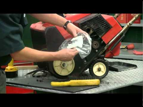 How to Replace a Snow Thrower Auger Belt