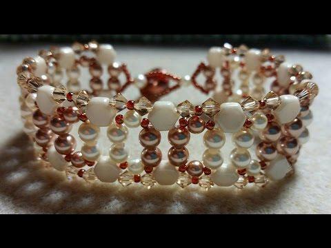 (Tutorial) Crystal Pearl Bracelet DIY (Video 154)