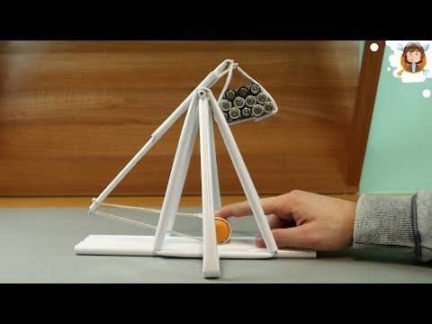 How to Make a Paper Trebuchet - (Paper Gun)