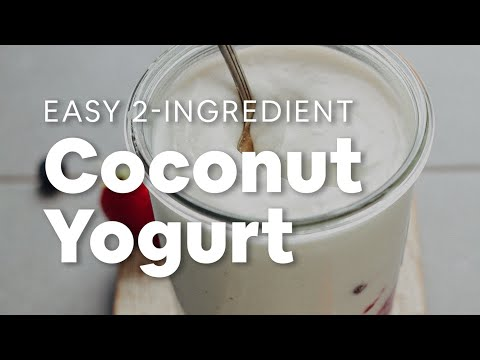 How to Make Coconut Yogurt (2 Ingredients!)