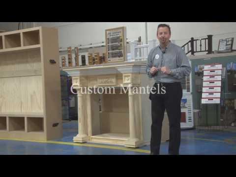 Building Center Custom Mantels reclaimed lumber, custom made designs, fireplace mantles