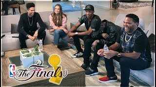 WATCHING THE NBA FINALS WITH HOLLYWOOD CELEBRITIES!