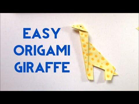 How To Make Origami Giraffe - Easy Tutorial for Beginners - Easy Origami Giraffe | Origami Animal
