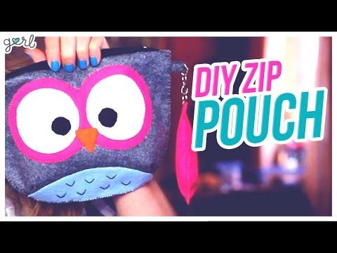 Do It, Gurl – DIY Zip Pouch