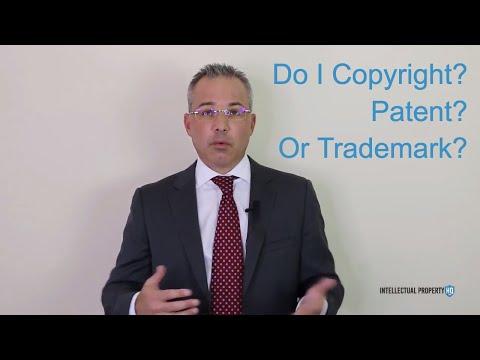 Copyright vs Trademark vs Patent