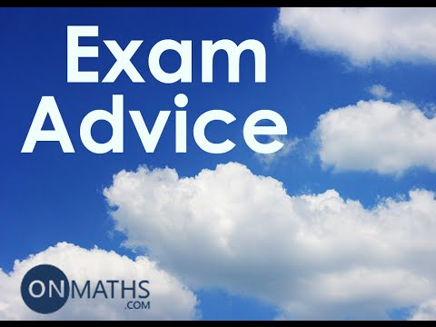 GCSE Maths 2016 Exam Advice: Edexcel, AQA and OCR (OnMaths Update)