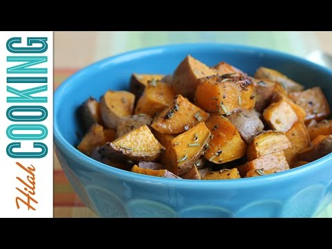 How to Make Roasted Sweet Potatoes |  Hilah Cooking