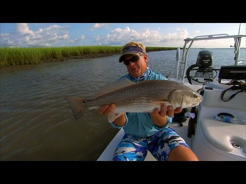 Charleston South Carolina Fishing for Oyster Bar Redfish and Floodtide