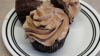 Chocolate Swiss Meringue Buttercream Frosting On Pudding Filled Choco