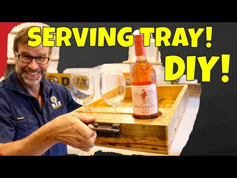 DIY Pallet Wood Serving Tray. Awesome Project!