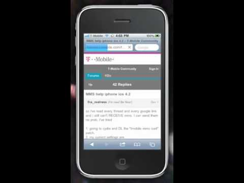 How to fix mms iphone 3gs 4.2.1