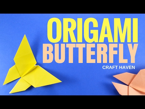 How To Make Origami Butterfly (Traditional) - Easy Origami Step By Step DIY Tutorial for Beginners