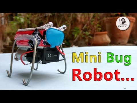 How to make Robot - Build a Mini Bug Robot at home in 5 minutes