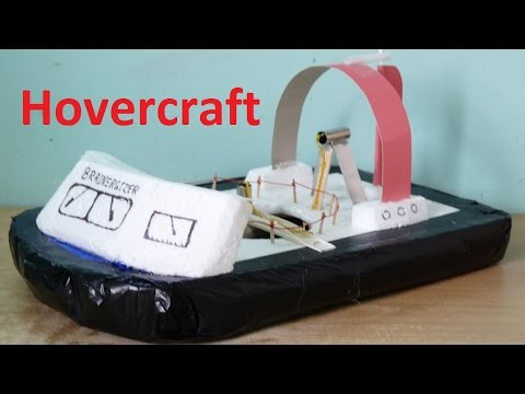 How to make a mini hovercraft at home