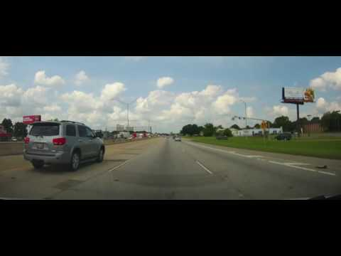 Driving on Interstate 12 and Interstate 10 - Baton Rouge, Louisiana