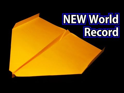 How To Make The NEW WORLD RECORD Paper Airplane -2018- BEST paper plane / Sky King