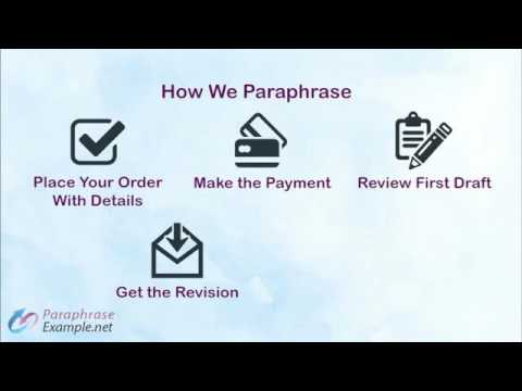 Paraphrase Example and Tips