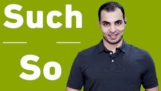 الفرق بين such و so قاعدة such and so في اللغة الانجليزية English Bits 22
