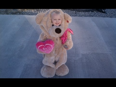 EASY TEDDY BEAR COSTUME!